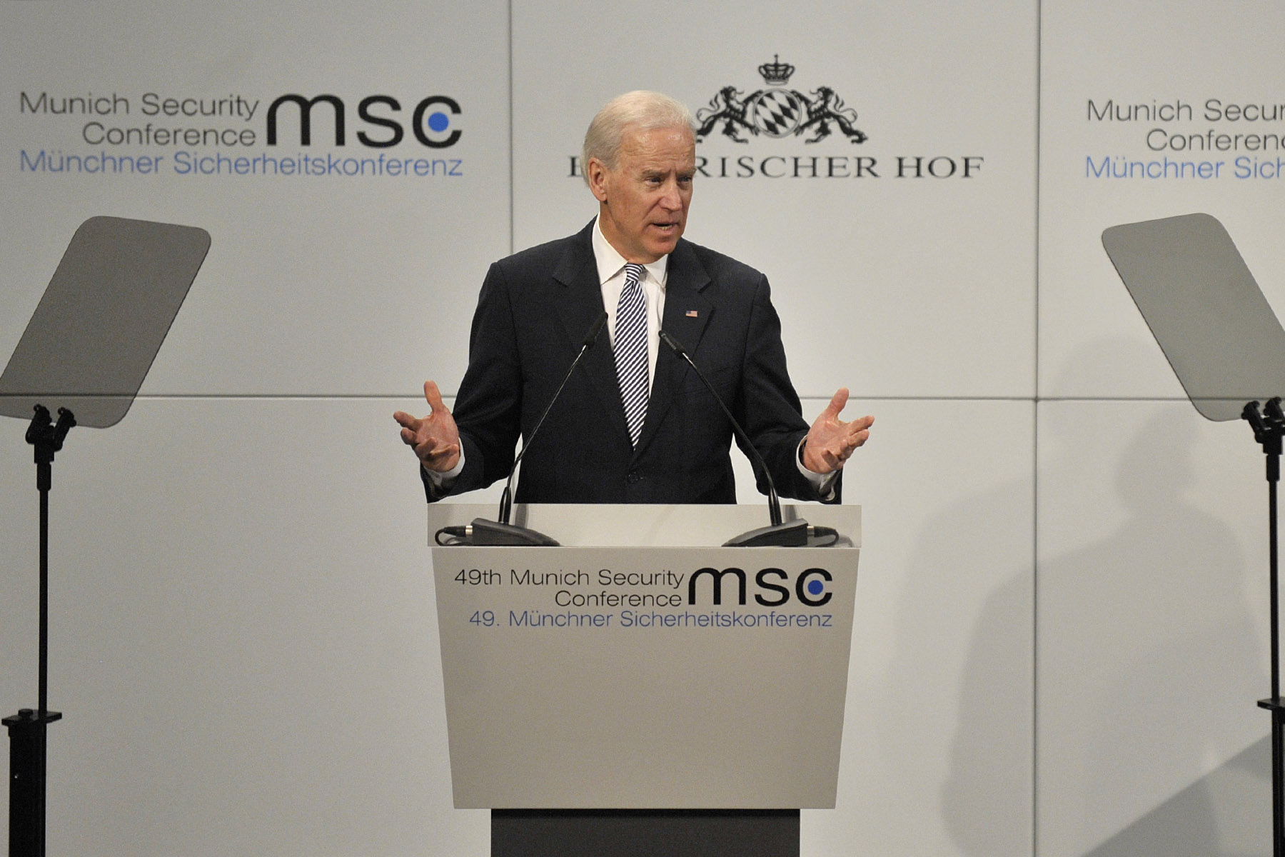 Vice President Joe Biden delivers remarks during the 49th Munich Security Conference in Munich, Germany, Feb. 2, 2013. (DoD Photo By Glenn Fawcett) (Released)