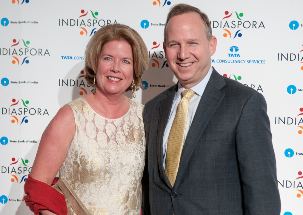 Governor Delaware with his wife