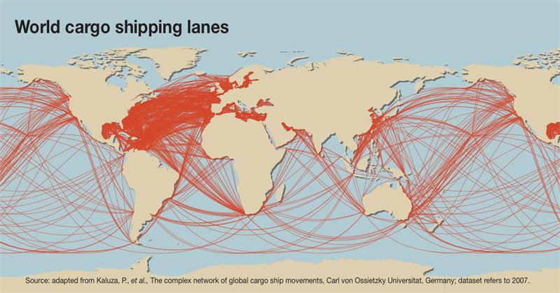 World Cargo Shipping Lanes