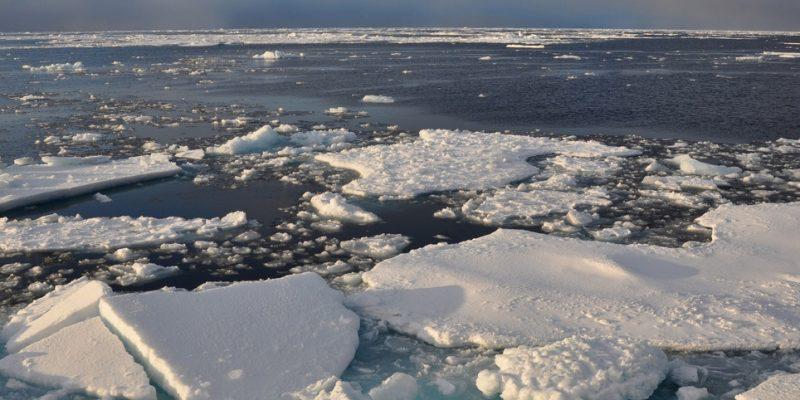 Sea ice in the Arctic declined: Image- Patrick Kelley:US Coast Guard via Flickr