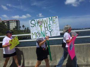 Demonstrators marching toward Mar-a-Lago 04:15 in Palm Beach, FL 3