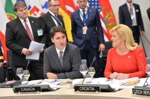 Justin Trudeau (Prime Minister, Canada) and Kolinda Grabar-Kitarovic (President, Croatia)