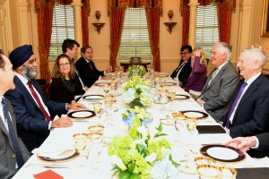 Secretary Tillerson Hosts Working Dinner for Foreign and Defense Ministers of Canada