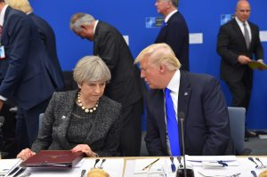 Theresa May (Prime Minister, United Kingdom) and Donald Trump (President, United States)