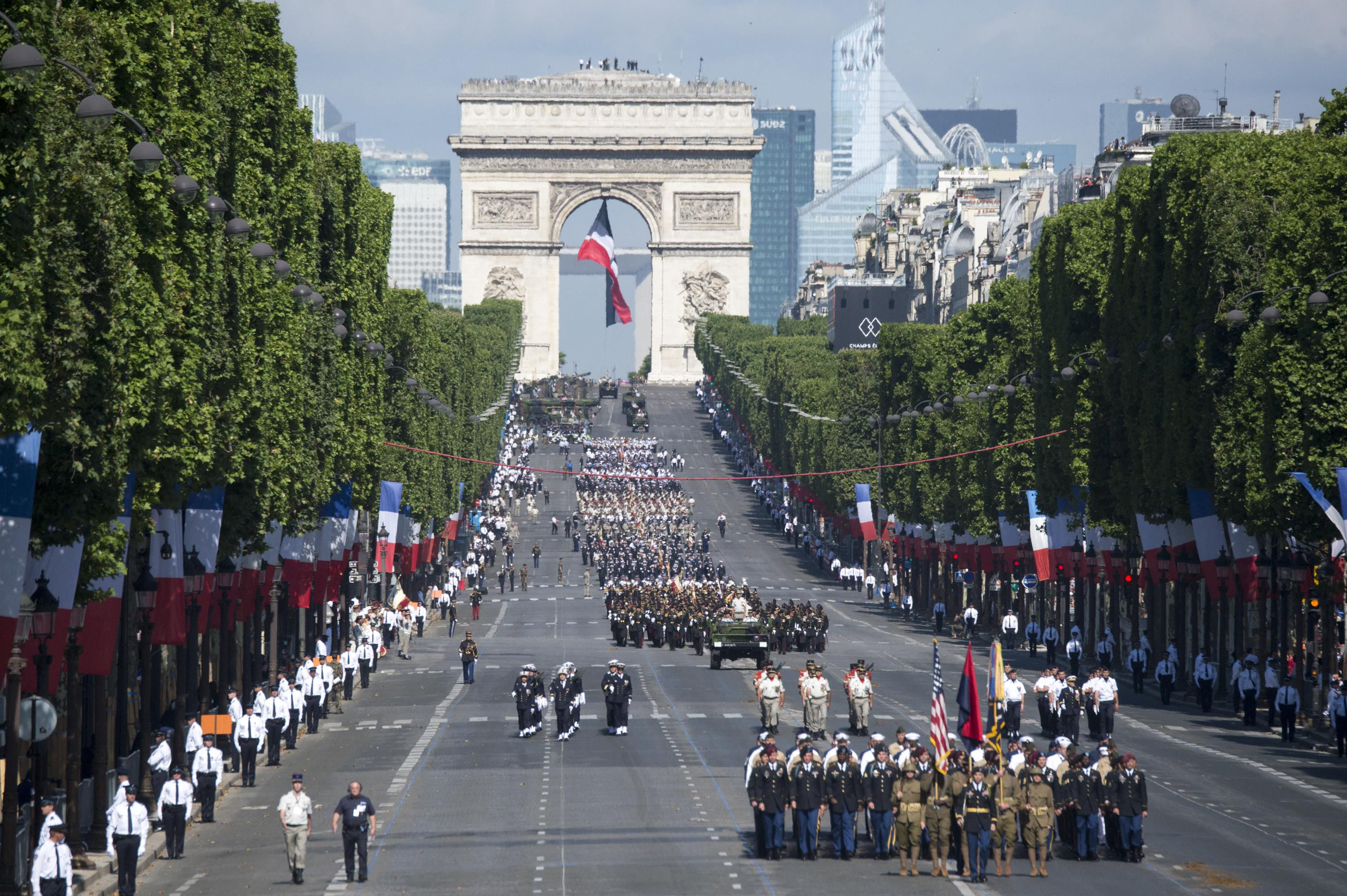Bastille Day military parade down the Champs-Elysees in Paris, July 14, 2017