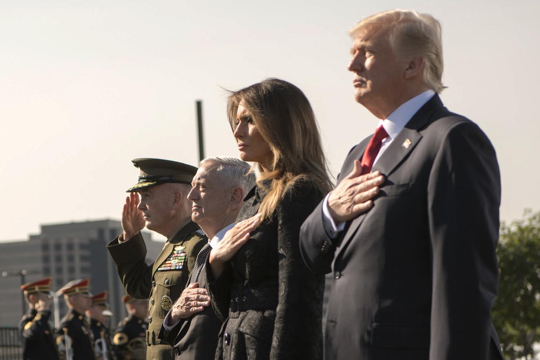 9:11 in 2017 POTUS FLOTUS in Pentagon