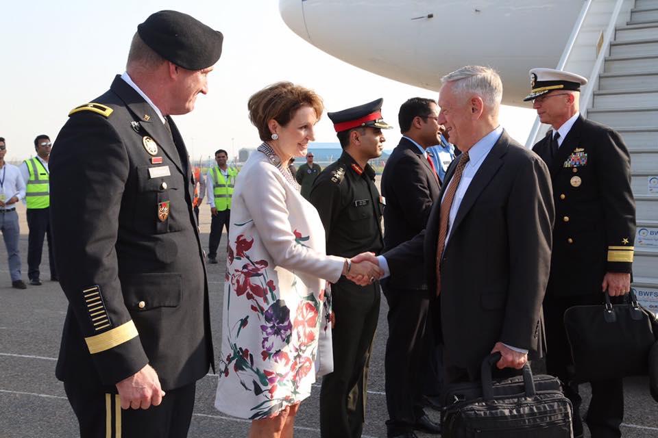 Mattis arrives in India