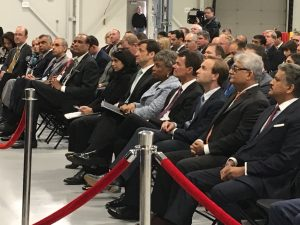 Audience at the Mahindra inauguration including Anand