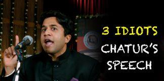Chatur's Speech 3 Idiots
