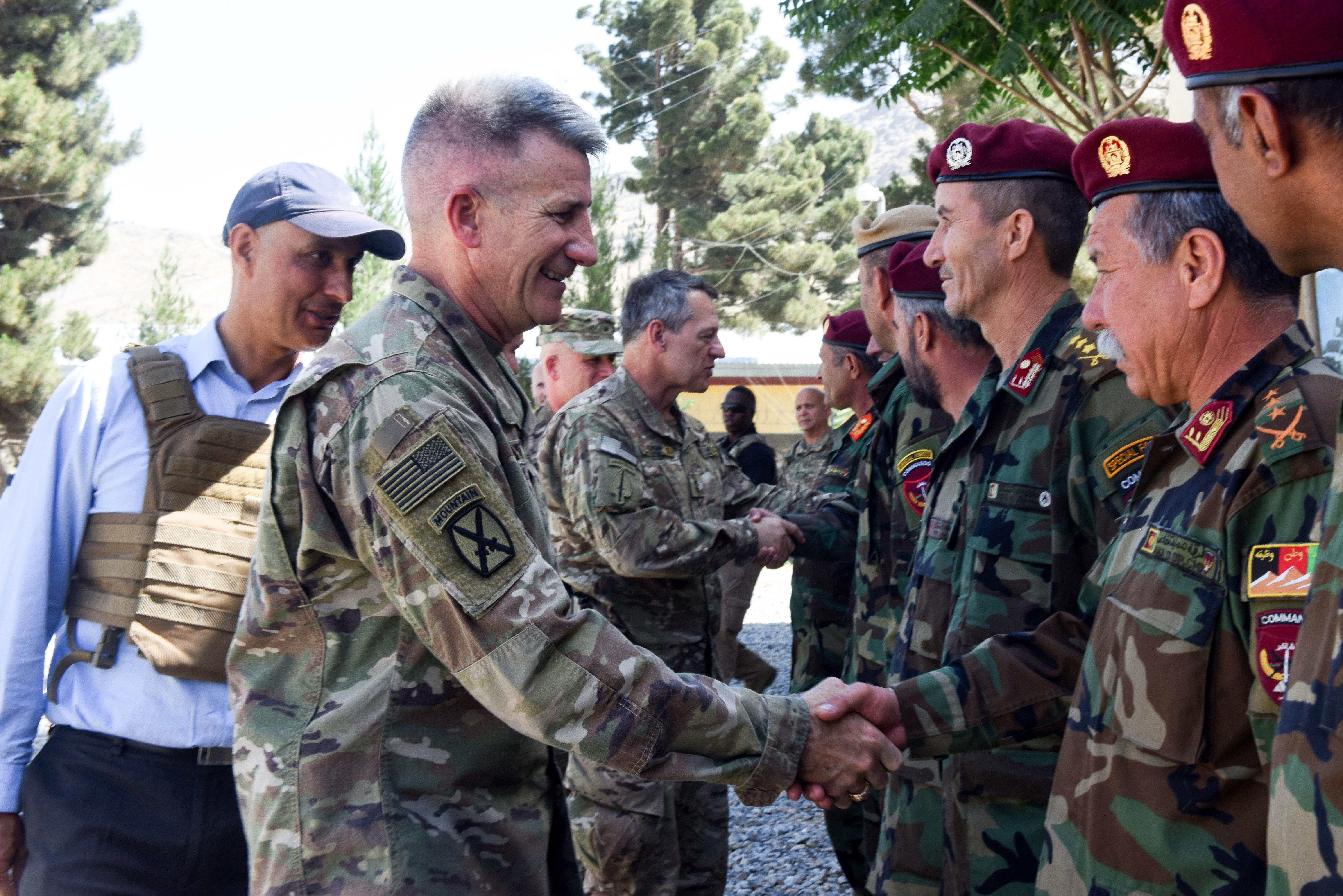 General Nicholson brings message of unity to ANA New Commando School