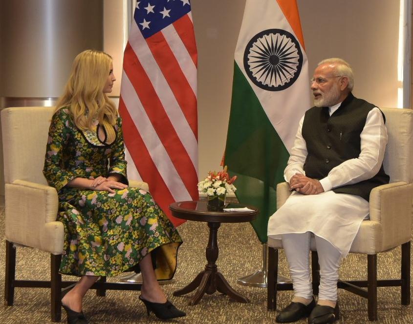 Ivanka with Modi Credit-Modi tweet