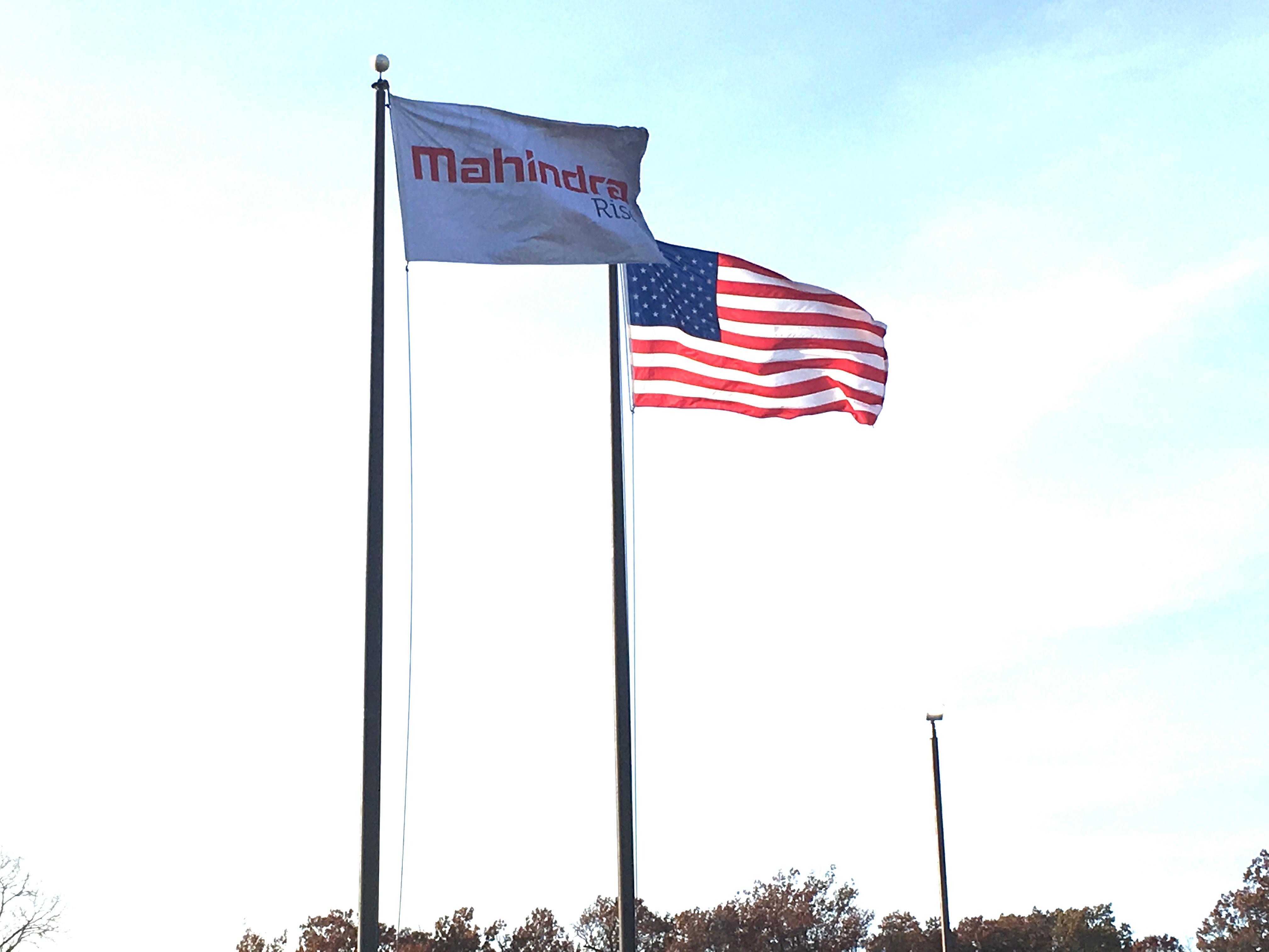 Mahindra Flag with the US