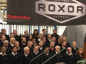 Roxor with Mahindra employees