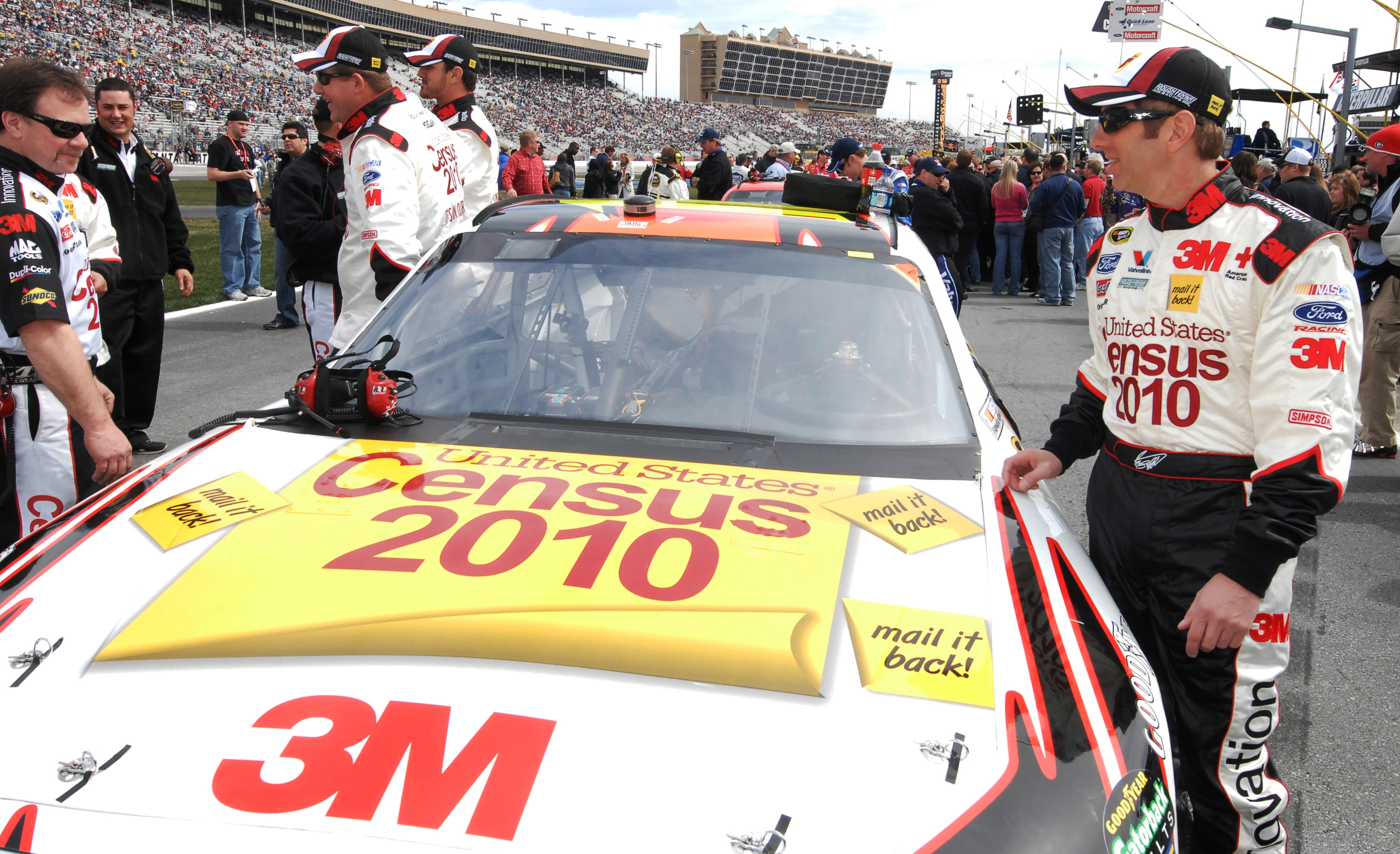 MARCH 7, 2010  HAMPTON, Georgia  Photos from Atlanta Motor Speedway and Census 2010 NASCAR vehicle driven by Greg Biffle. Kent D. Johnson, kdjohnson@ajc.com