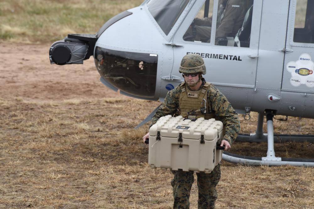 Marine Offloads Cargo