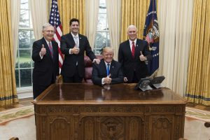 Senate, House leaders, Trump, Pence in Oval Office