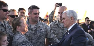 Vice President Mike Pence visits Nellis AFB