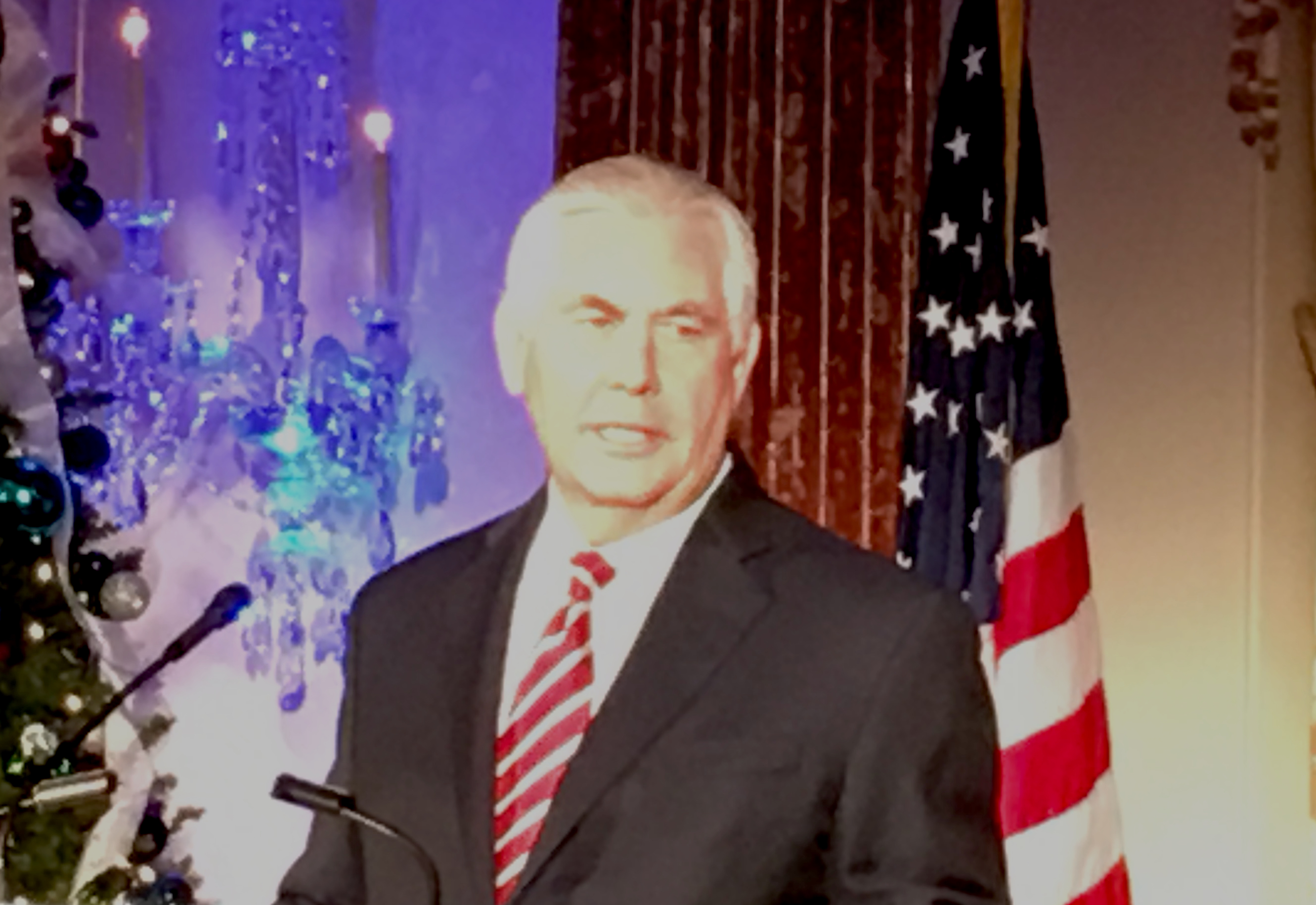Rex Tillerson Year end party 2017