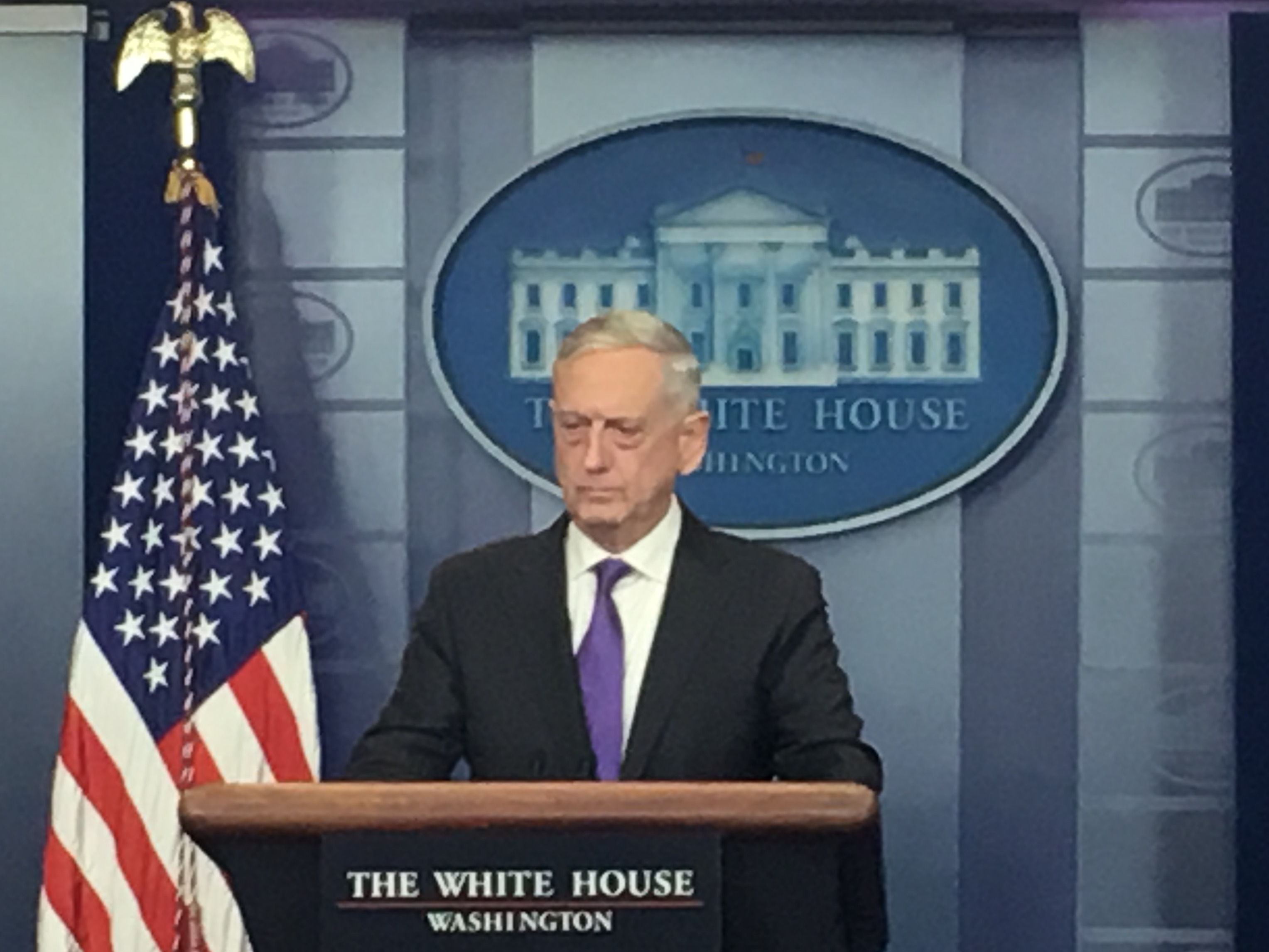 Mattis in Brady Room White House Better