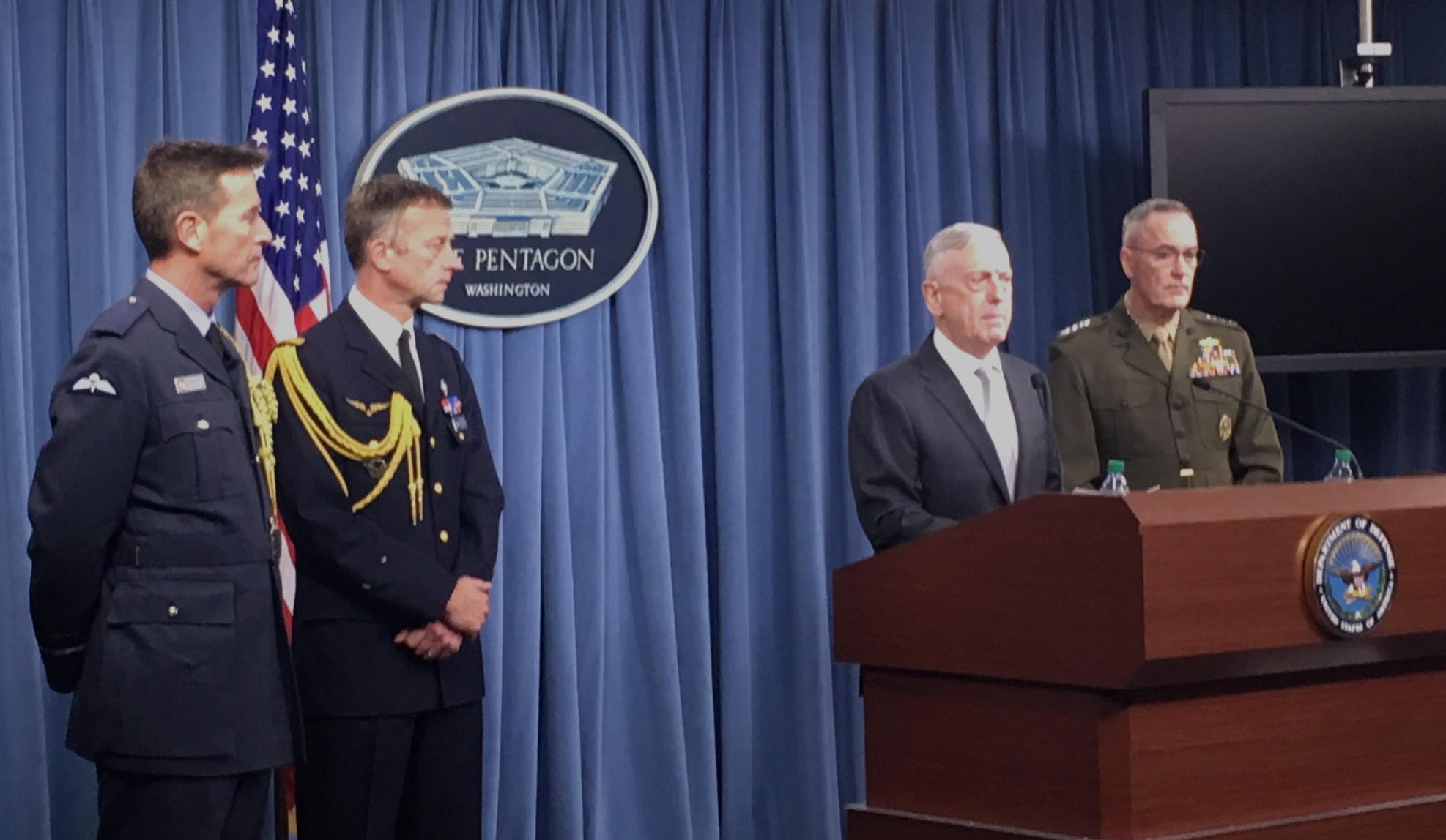 Mattis Briefing 4:13 Syria attack