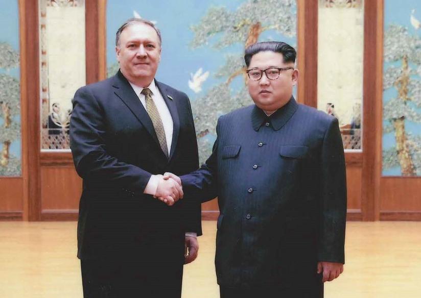 Pompeo with Kim