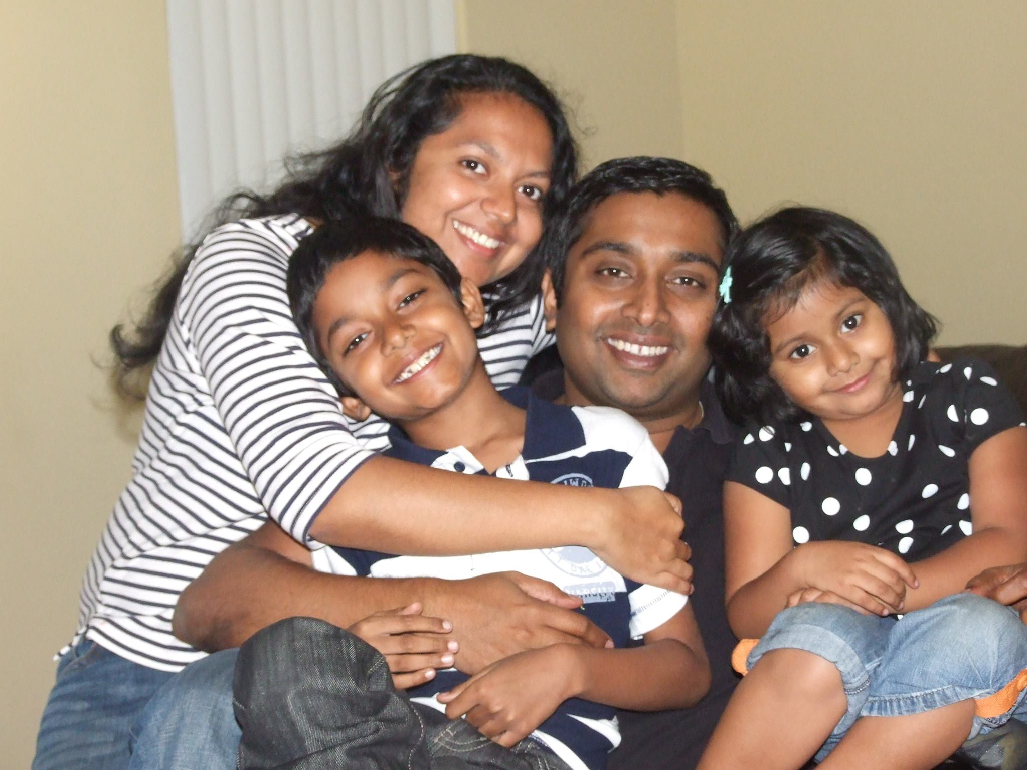 Sandeep Thottapilly and family from Facebook