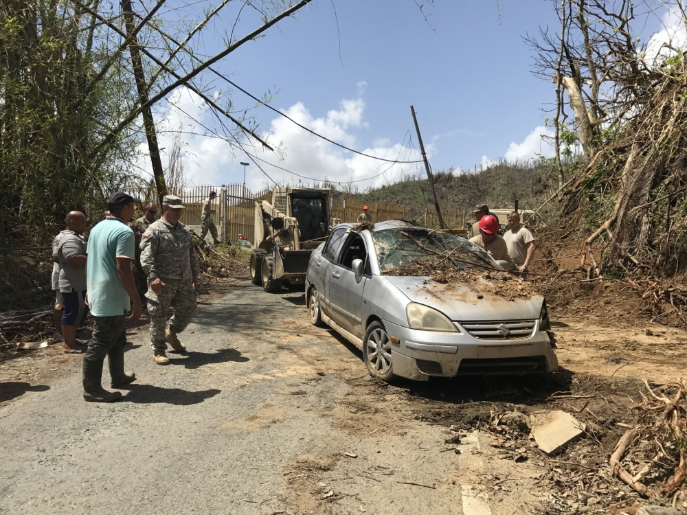 South Carolina Army National Guard soldiers work in Talante, Puerto Rico