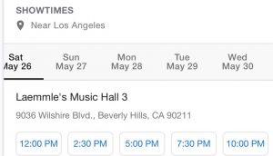 Yadvi showtimes California 3