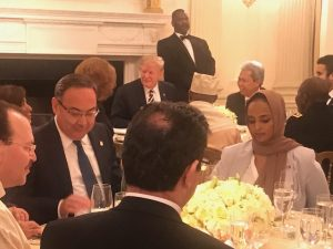 Iftar Party Trump sitting WH 3