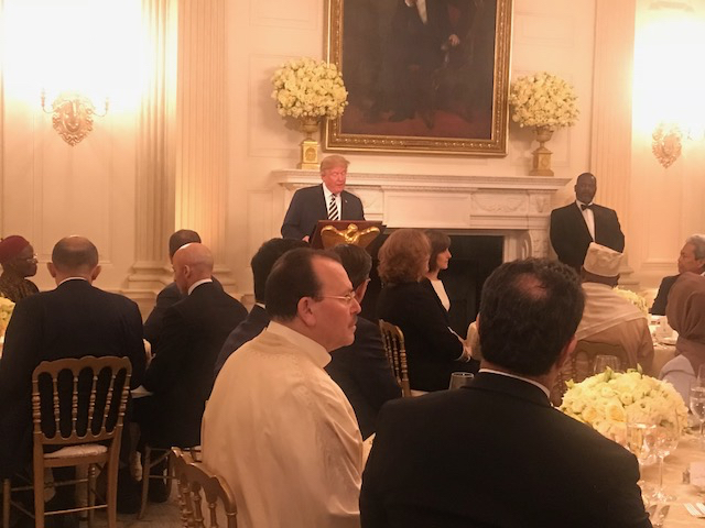 Iftar Party Trump speaking main WH 5