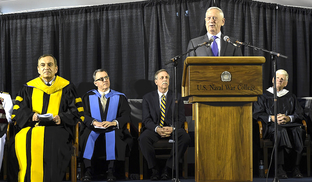 Mattis at Naval War College