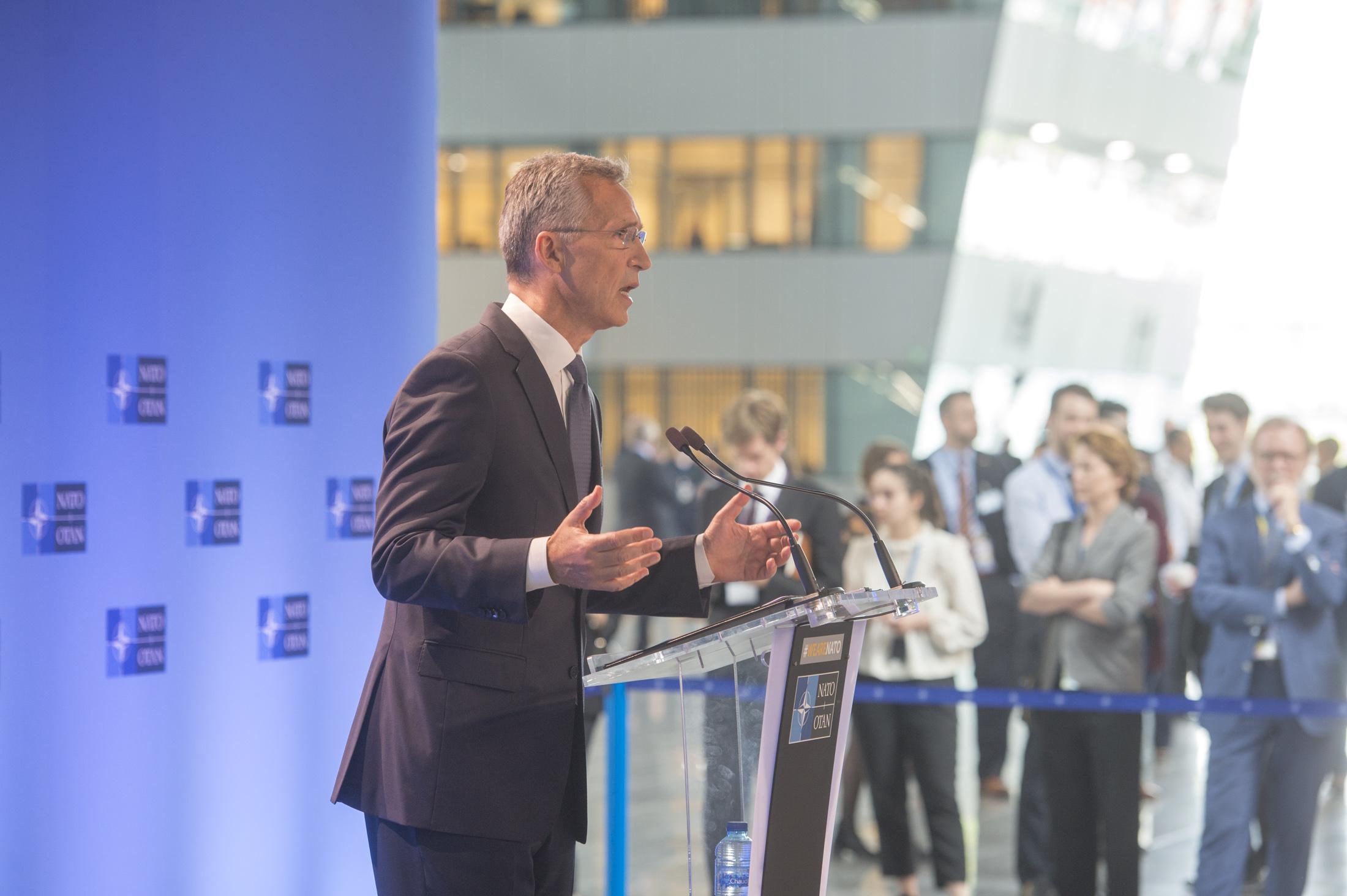 Doorstep statement by NATO Secretary General Jens Stoltenberg