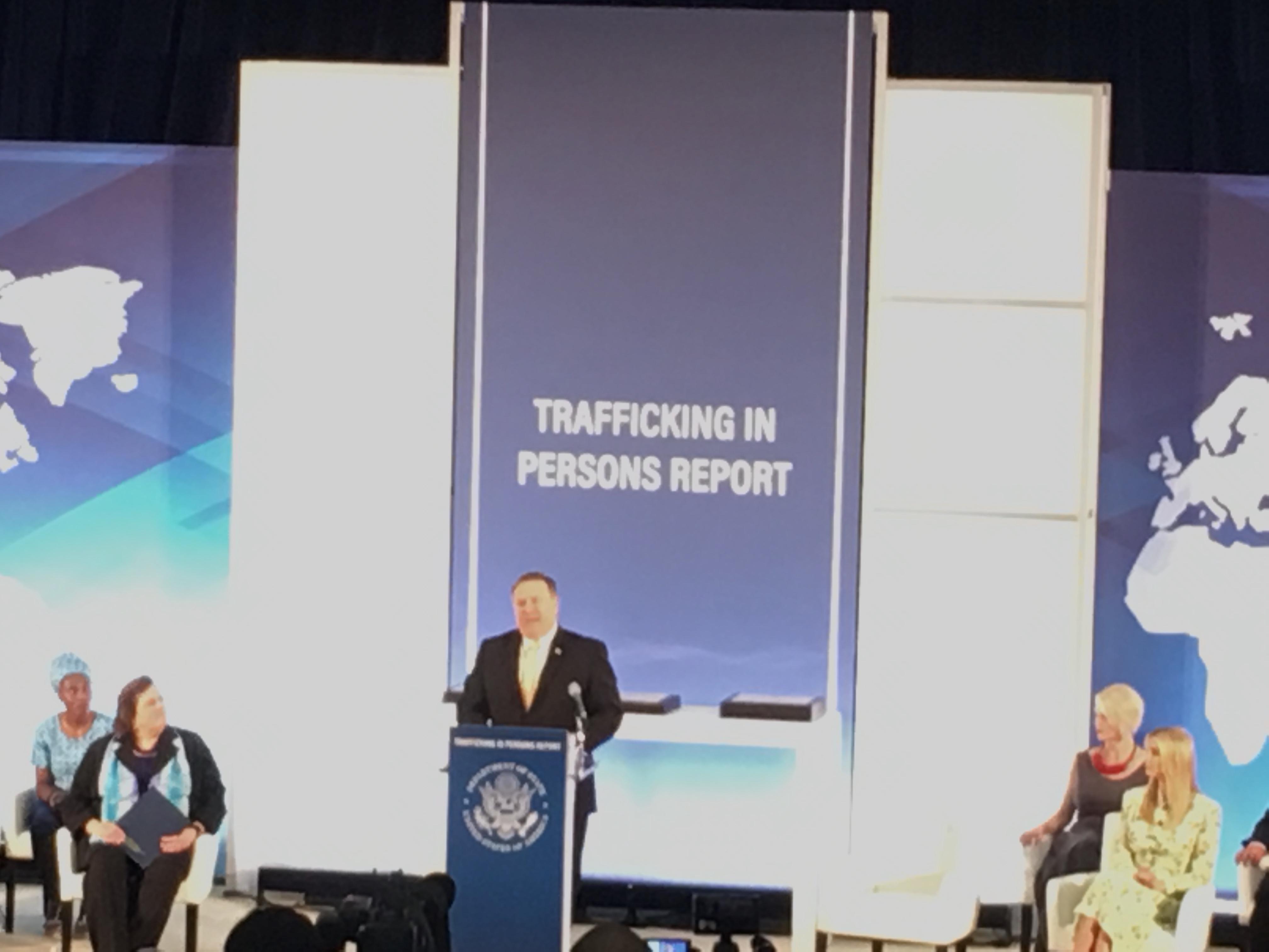 Pompeo Ivanka releasing TIP report