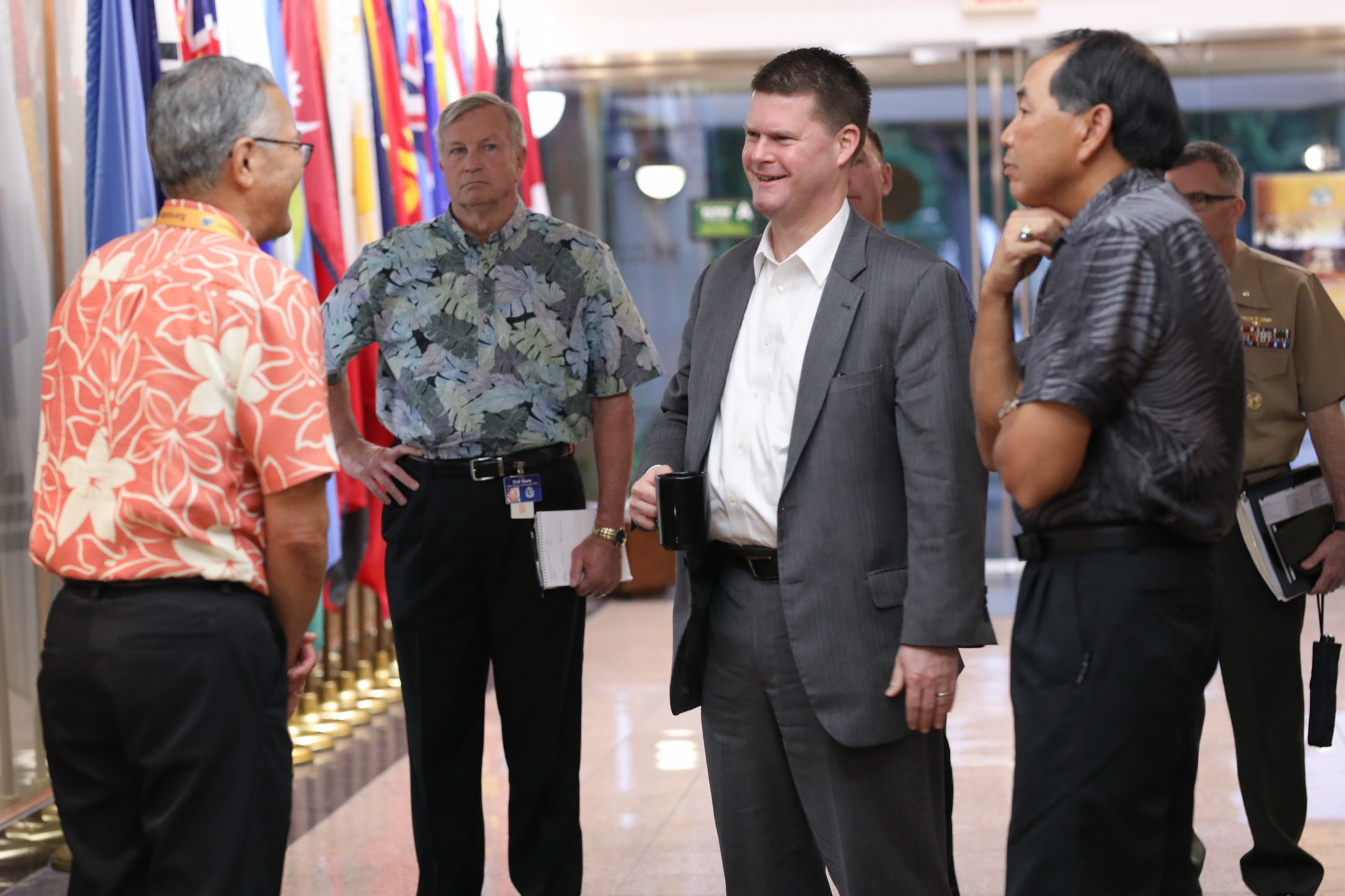 Assistant Sevretary of Defense for Asia and Pacific Security Affairs Randall Schriver visits APCSS and talks with faculty and staff.