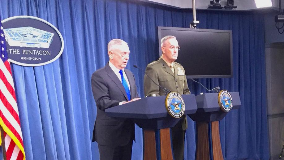 Mattis and Dunford Briefing Pentagon