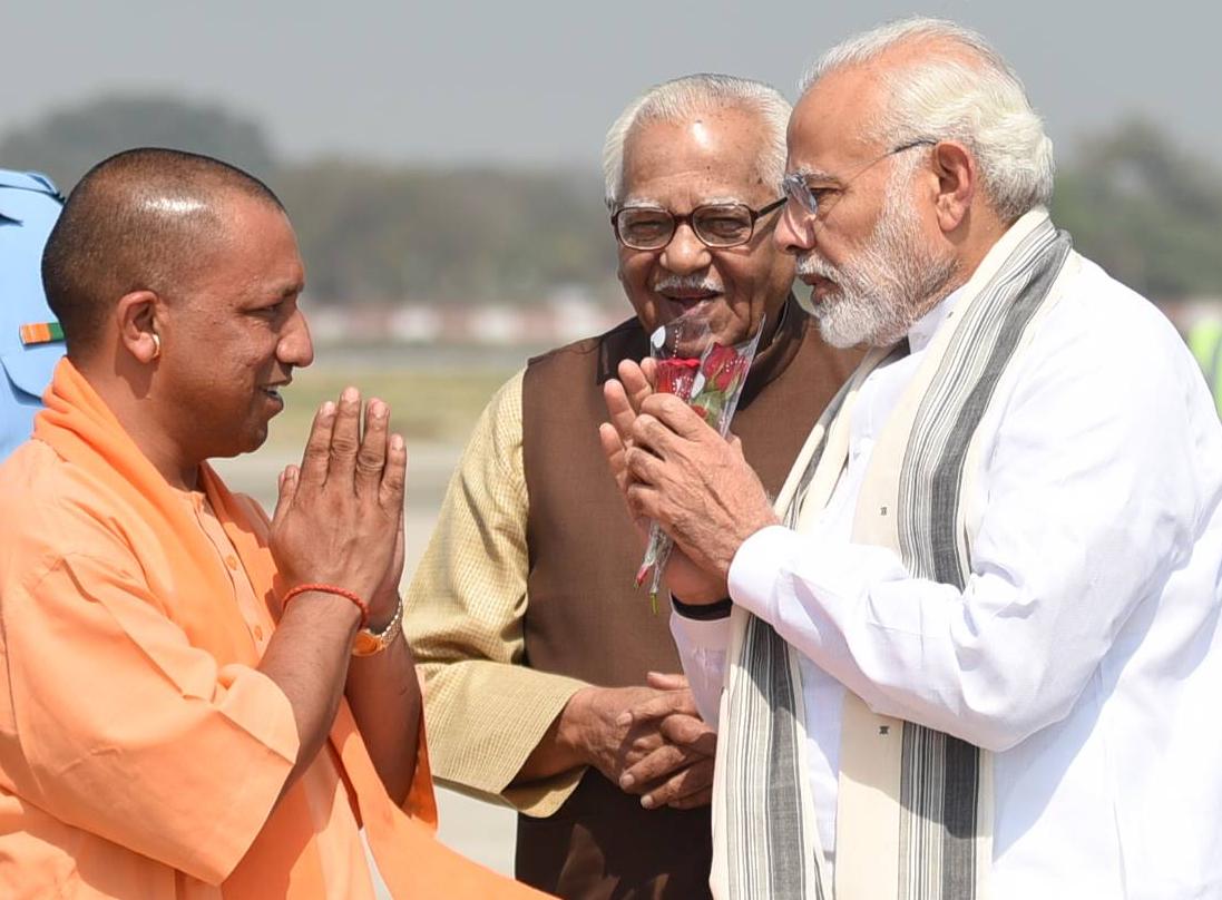 Yogi with Modi