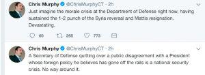 Chris Murphy Tweet on Mattis