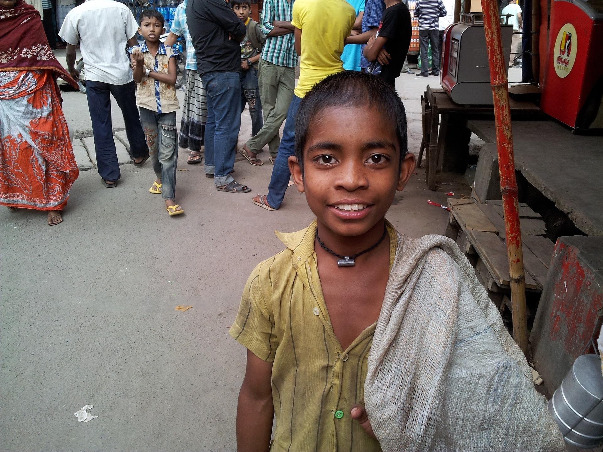 Boy on the streets of Bangladesh