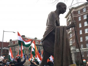 Indian flags overshadow Khalistan ones with Gandhi also for web
