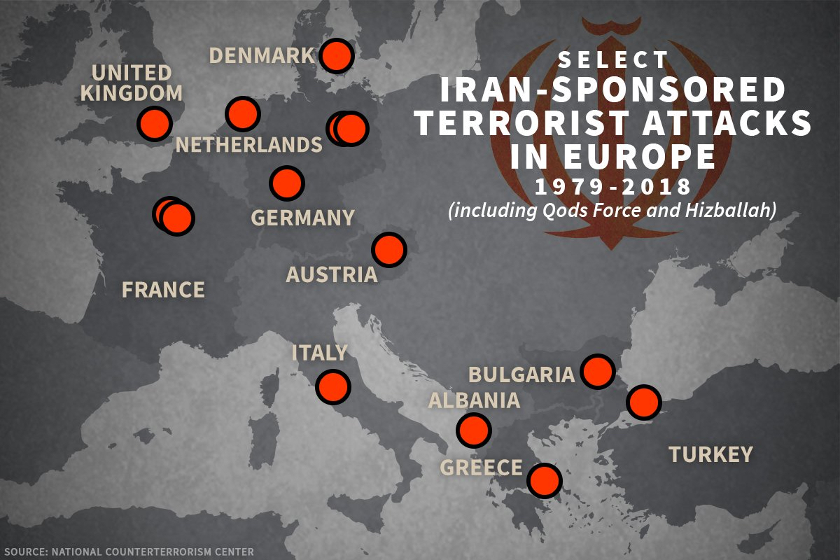 Iran Sponsored Terror attacks Europe