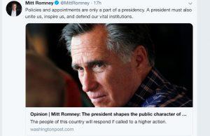Romney article tweet