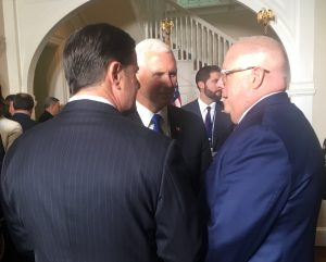 VP Pence with Hogan and Kentucky Gov. Matt Bevin