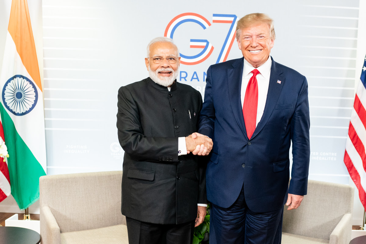Trump with Modi at G7