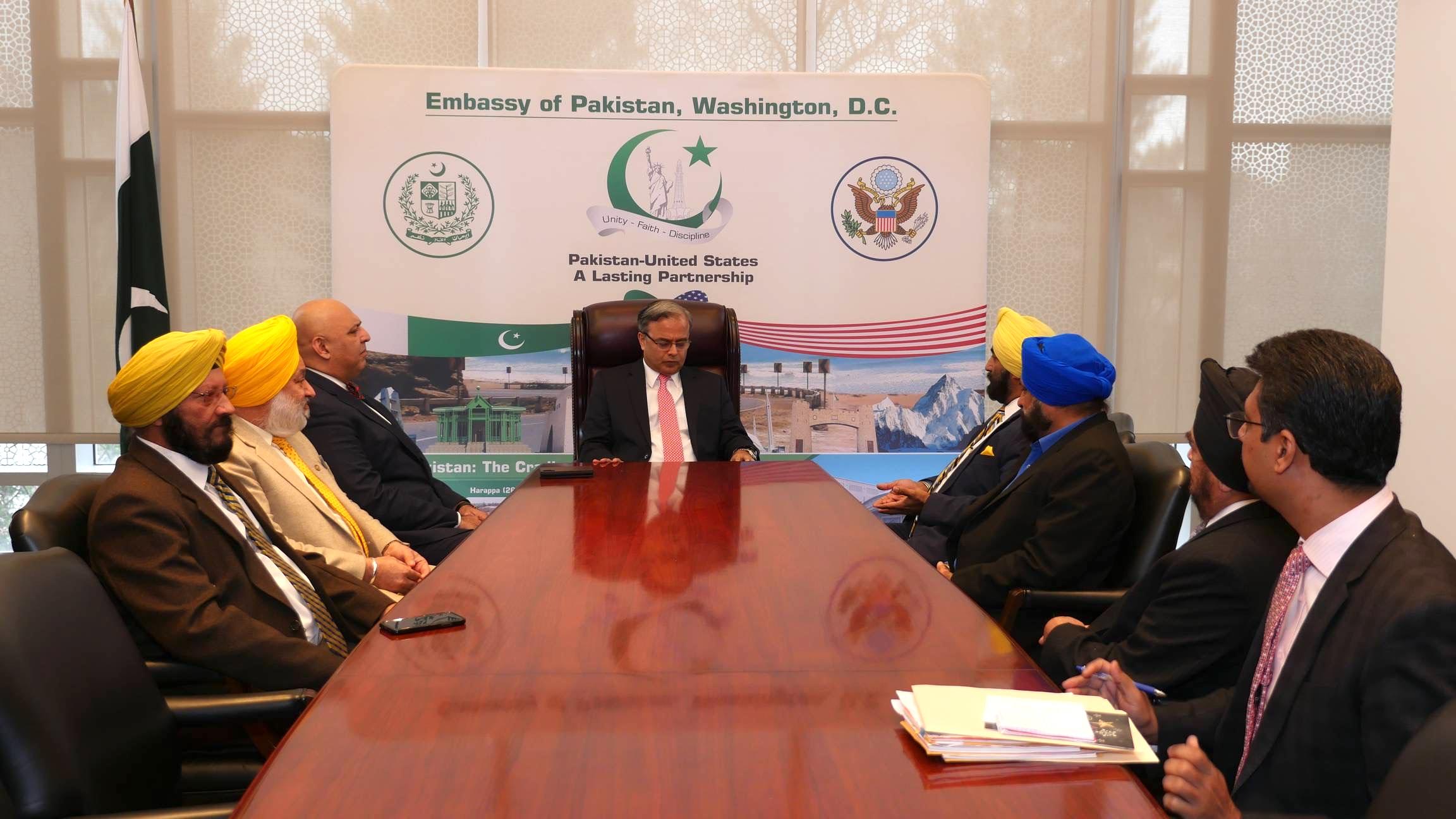 Sikhs of America Delegaton Pak Embassy