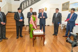 Shringla Satwant Khanalia Embassy cake
