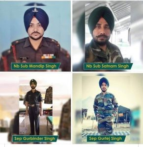 Four Sikh soldiers killed in clashes with China